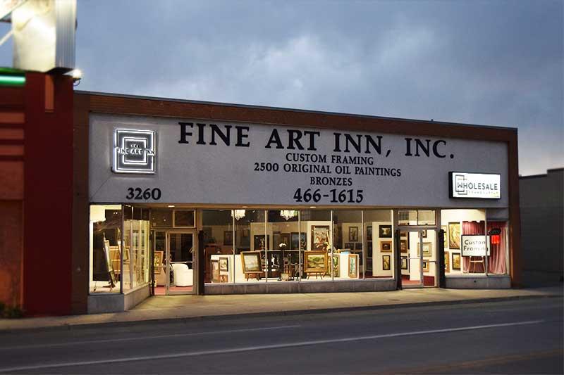 The fine art inn store front